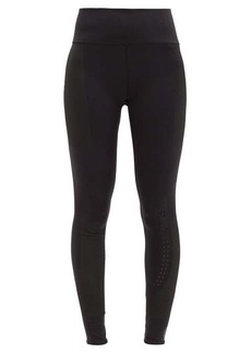 Adidas By Stella McCartney Support Core perforated recycled-fibre leggings