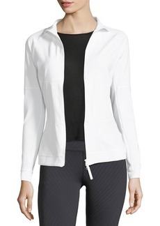 adidas by Stella McCartney The Mid-Layer Zip-Front Mix-Knit Performance Jacket