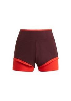 Adidas By Stella McCartney Training double-layered performance shorts