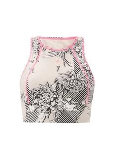 Adidas By Stella McCartney TruePurpose recycled fibre-blend cropped top