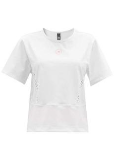 Adidas By Stella McCartney TrueStrength recycled fibre-blend T-shirt