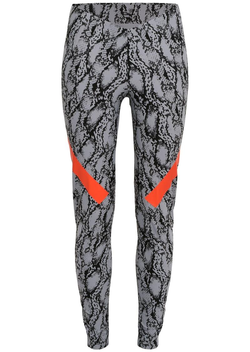 Adidas By Stella Mccartney Woman Alphaskin 360 Snake-print Climachill Leggings Animal Print