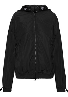 Adidas By Stella Mccartney Woman Athletics Shell Hooded Jacket Black