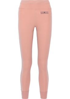 Adidas By Stella Mccartney Woman Comfort Striped Stretch Leggings Antique Rose