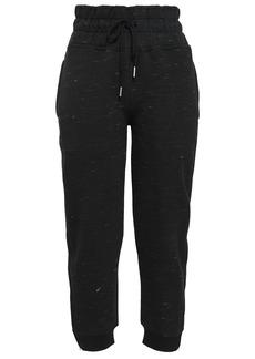 Adidas By Stella Mccartney Woman Cotton-blend Fleece Track Pants Black