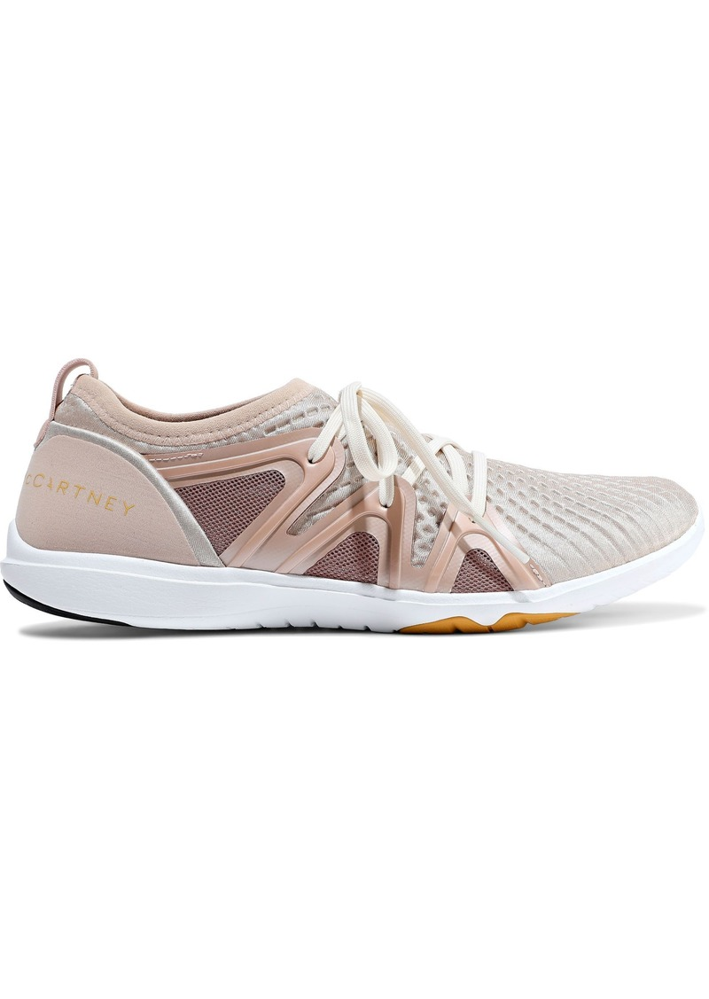 Adidas By Stella Mccartney Woman Crazymove Pro Neoprene And Mesh Sneakers Blush