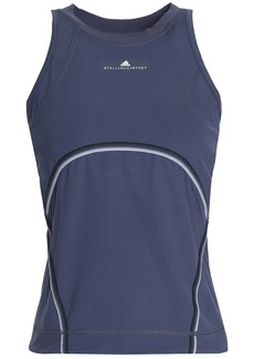 Adidas By Stella Mccartney Woman Cutout Stretch Tank Midnight Blue
