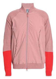 Adidas By Stella Mccartney Woman Cutout Two-tone Shell Jacket Antique Rose