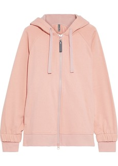 Adidas By Stella Mccartney Woman Essentials Printed French Cotton-terry Hoodie Pink