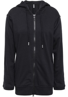 Adidas By Stella Mccartney Woman French Cotton-blend Terry Hoodie Black