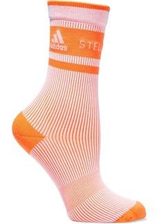 Adidas By Stella Mccartney Woman Jacquard-knit Socks Bright Orange