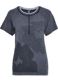 Adidas By Stella Mccartney Woman Jacquard-knit Top Dark Gray
