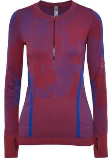 Adidas By Stella Mccartney Woman Jacquard-knit Top Plum