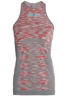Adidas By Stella Mccartney Woman Marled Stretch-jersey Tank Gray