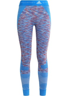 Adidas By Stella Mccartney Woman Marled Tech-jersey Leggings Azure