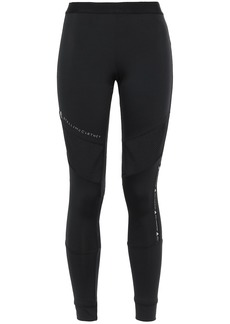 Adidas By Stella Mccartney Woman Mesh-paneled Stretch Leggings Black