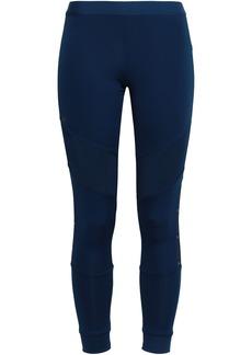 Adidas By Stella Mccartney Woman Mesh-paneled Stretch Leggings Navy