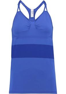 Adidas By Stella Mccartney Woman Mesh-trimmed Stretch Tank Bright Blue