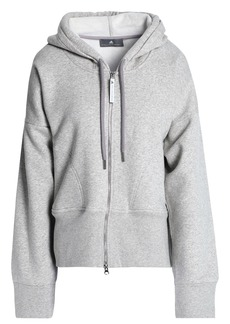 Adidas By Stella Mccartney Woman Mélange Cotton-blend Hoodie Light Gray
