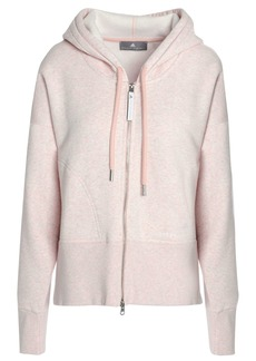 Adidas By Stella Mccartney Woman Mélange French Cotton-blend Terry Hoodie Baby Pink