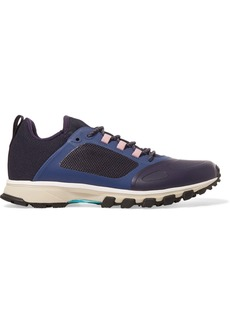 Adidas By Stella Mccartney Woman Paneled Mesh And Rubber Sneakers Navy