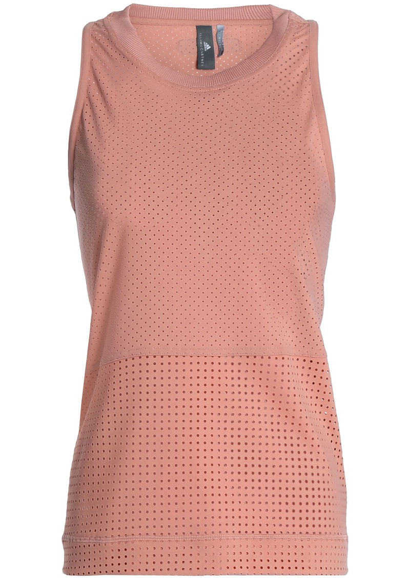 Adidas By Stella Mccartney Woman Peforated Stretch Tank Antique Rose