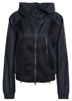 Adidas By Stella Mccartney Woman Perforated Scuba And Shell Jacket Black