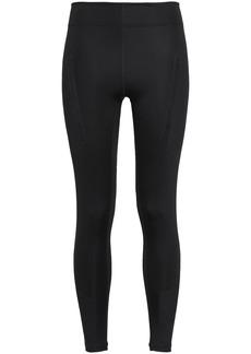 Adidas By Stella Mccartney Woman Perforated Stretch Leggings Black