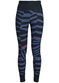 Adidas By Stella Mccartney Woman Printed Stretch Leggings Blue
