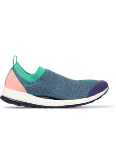 Adidas By Stella Mccartney Woman Pure Boost X Cutout Stretch-knit Slip-on Sneakers Multicolor