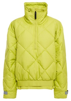 Adidas By Stella Mccartney Woman Quilted Shell Jacket Lime Green