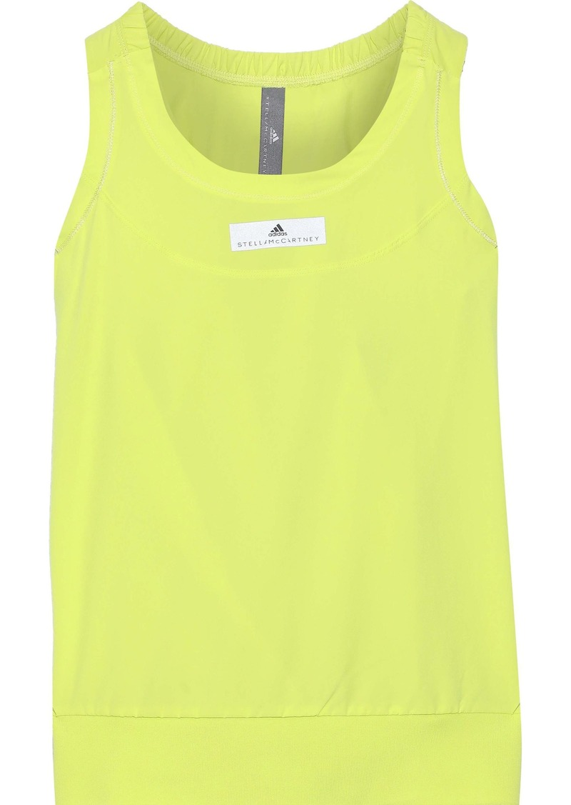 Adidas By Stella Mccartney Woman Run Adizero Neon Climalite Tank Chartreuse