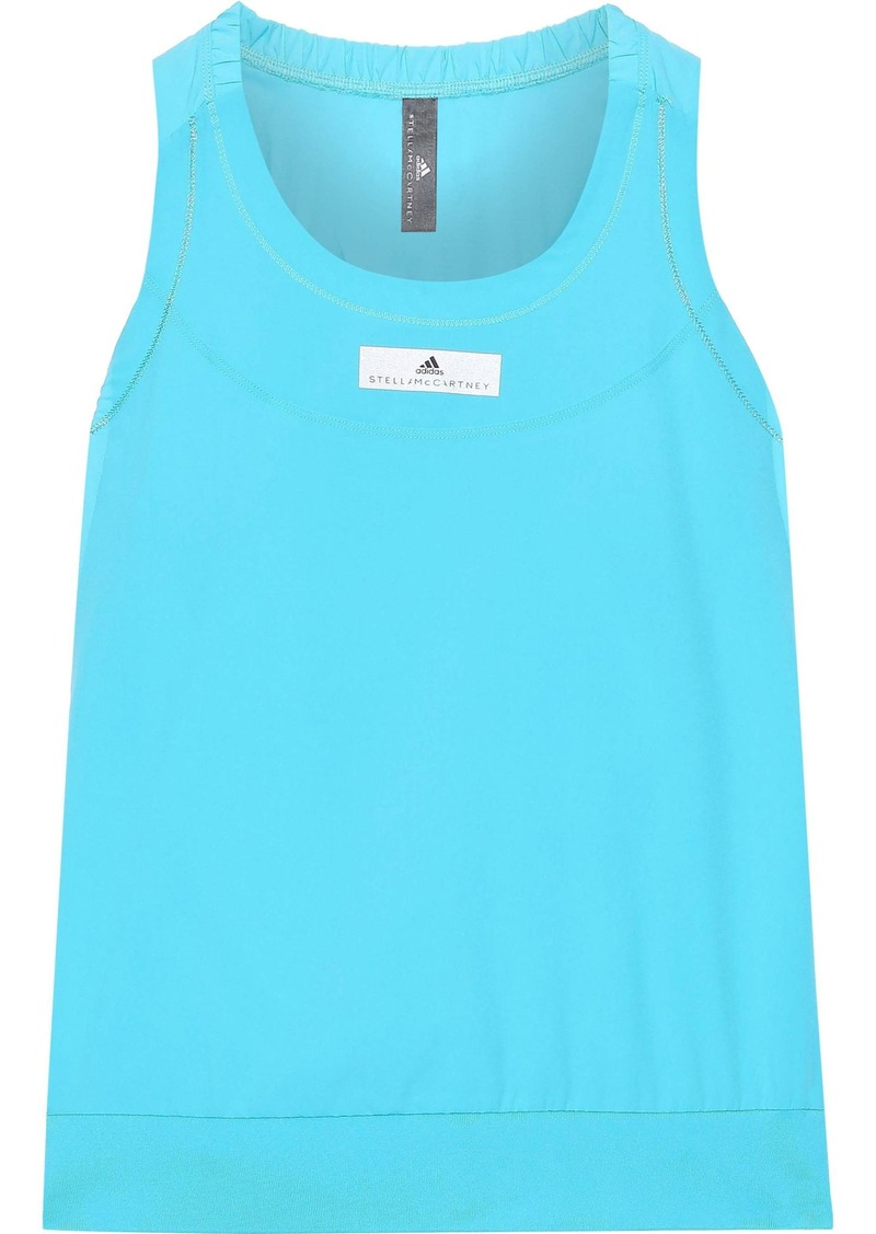 Adidas By Stella Mccartney Woman Run Adizero Neon Climalite Tank Sky Blue