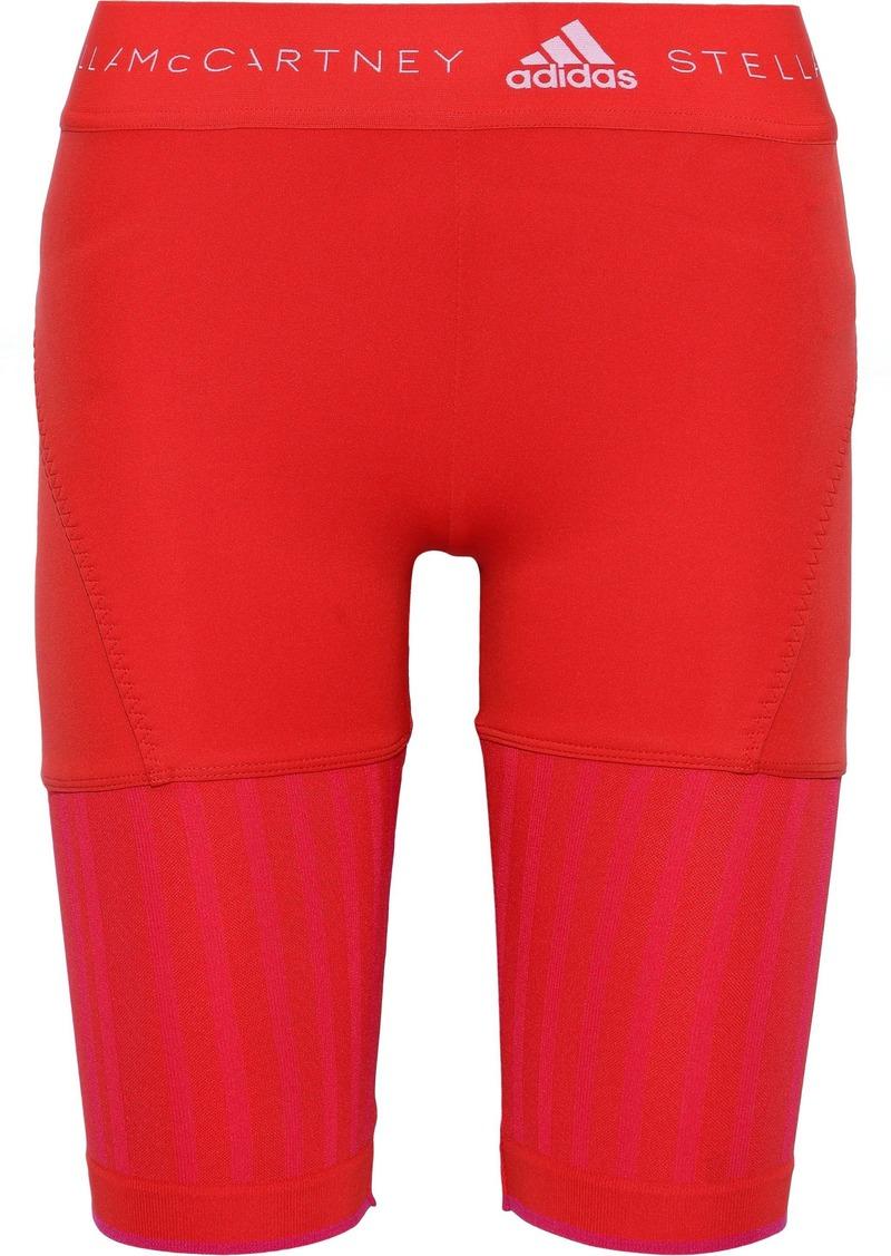 Adidas By Stella Mccartney Woman Run Ultra Jacquard-paneled Stretch Shorts Papaya