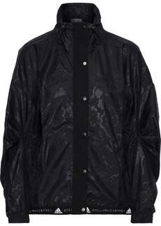 Adidas By Stella Mccartney Woman Run Wind Printed Shell Jacket Black