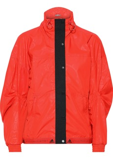 Adidas By Stella Mccartney Woman Run Wind Printed Shell Jacket Tomato Red