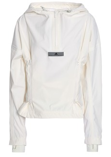 Adidas By Stella Mccartney Woman Shell Hooded Jacket Off-white