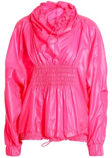 Adidas By Stella Mccartney Woman Shirred Shell Jacket Bright Pink