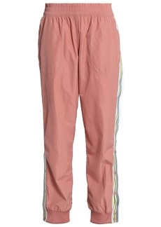 Adidas By Stella Mccartney Woman Striped Shell Track Pants Antique Rose
