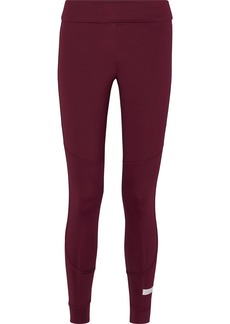 Adidas By Stella Mccartney Woman The Fold Tight Gathered Climalite Leggings Burgundy