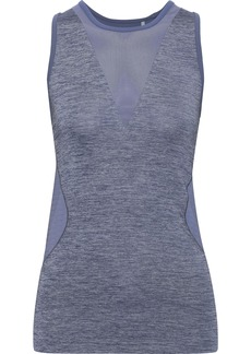 Adidas By Stella Mccartney Woman Training Seamless Jersey Stretch-jacquard And Scuba Tank Purple
