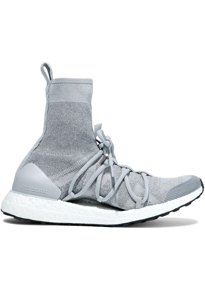 Adidas By Stella Mccartney Woman Ultraboost Stretch-knit High-top Sneakers Stone