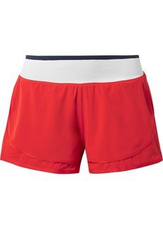 Adidas by Stella McCartney Climastorm Hiit Striped Layered Stretch Shorts