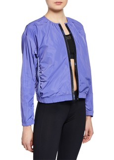 Adidas by Stella McCartney Collarless Zip-Front Logo Track Jacket