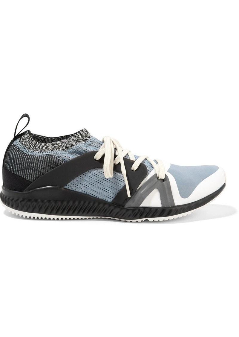 Adidas by Stella McCartney Crazytrain Pro Mesh And Stretch-knit Sneakers