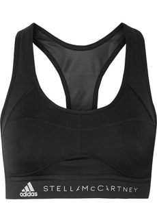 Adidas by Stella McCartney Essentials Mesh-paneled Climalite Sports Bra