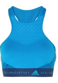 Adidas by Stella McCartney Fitsense Mesh-paneled Climalite Sports Bra