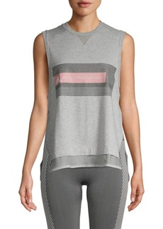 Adidas by Stella McCartney Graphic Logo Cotton-Blend Tank Top