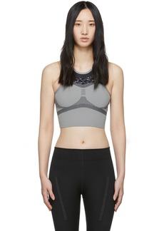 Adidas by Stella McCartney Grey & Black Run Crop Bra
