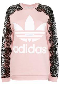 Adidas by Stella McCartney lace sleeve sweatshirt